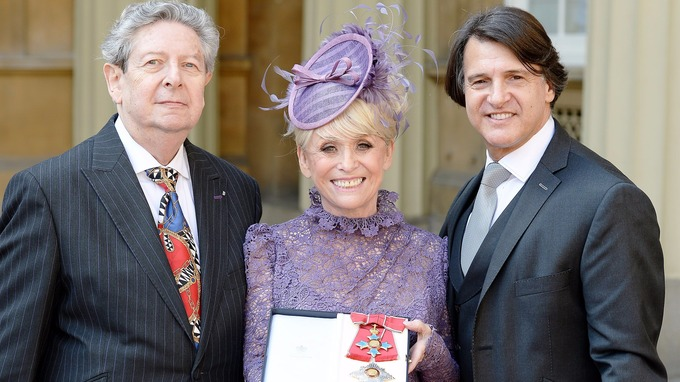 Barbara Windsor with husband Scott Mitchell (rigth) and agent Barry Burnett
