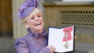 Barbara Windsor made a dame by The Queen at Buckingham Palace