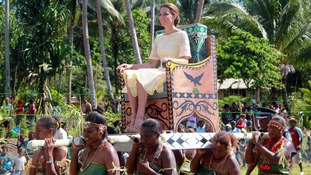 The Duchess of Cambridge on her visit to the Solomon Islands