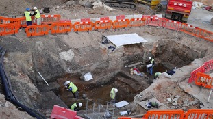 The dig site in Colchester.