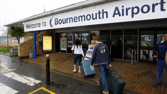 People outside Bournemouth airport