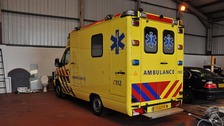 "One of many ""ambulances"" seized by the National Crime Agency"