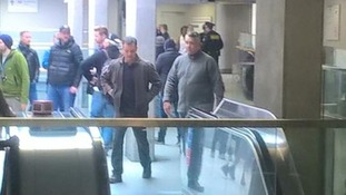 Matt Damon spotted at Woolwich amid Bourne filming.