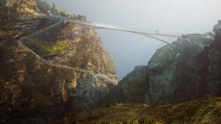 Tintagel castle bridge plan
