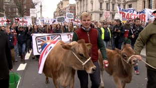 "Farmers march to get their plight ""herd"""