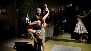 Obama doing tango