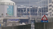 The destruction caused by the blasts at Brussels Airport