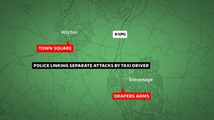 Police link two sexual assaults by taxi driver in Hertfordshire