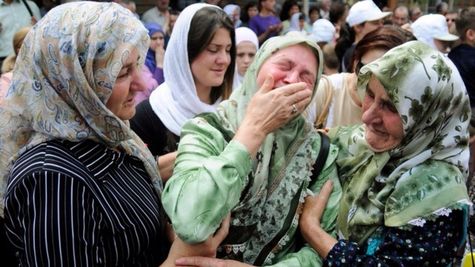 Many Muslim families lost relatives during the Bosnian war.