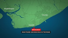 The man was found at Broadway in Jaywick.