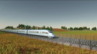 High Speed 2 trains will travel through rural England