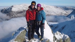 Climbers Tim Newton and Rachel Slater went missing during an outing in February.
