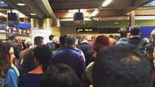crowd queue for tube