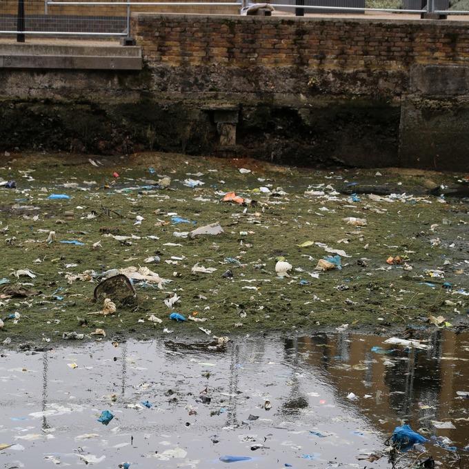 Litter in Regents Canal.