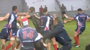 Mass punch-up at Royal Navy rugby match with French Navy