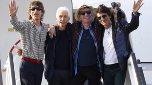 Rolling Stones land in Havana for historic concert