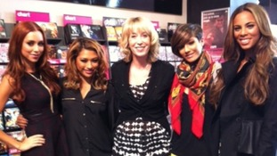 ITV Central's Emma Jesson with the Saturdays