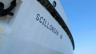 The wanted man was escorted to the mainland on the Scillonian