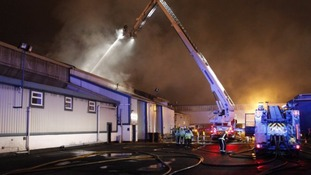 The fire happened at a training centre in Wood Lane, in the Erdington area of Birmingham last night.