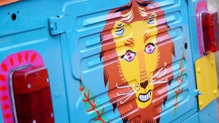 First look at temple-themed lion exhibit at London Zoo.