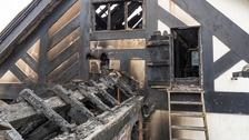 Pictures show the damage caused by the fire