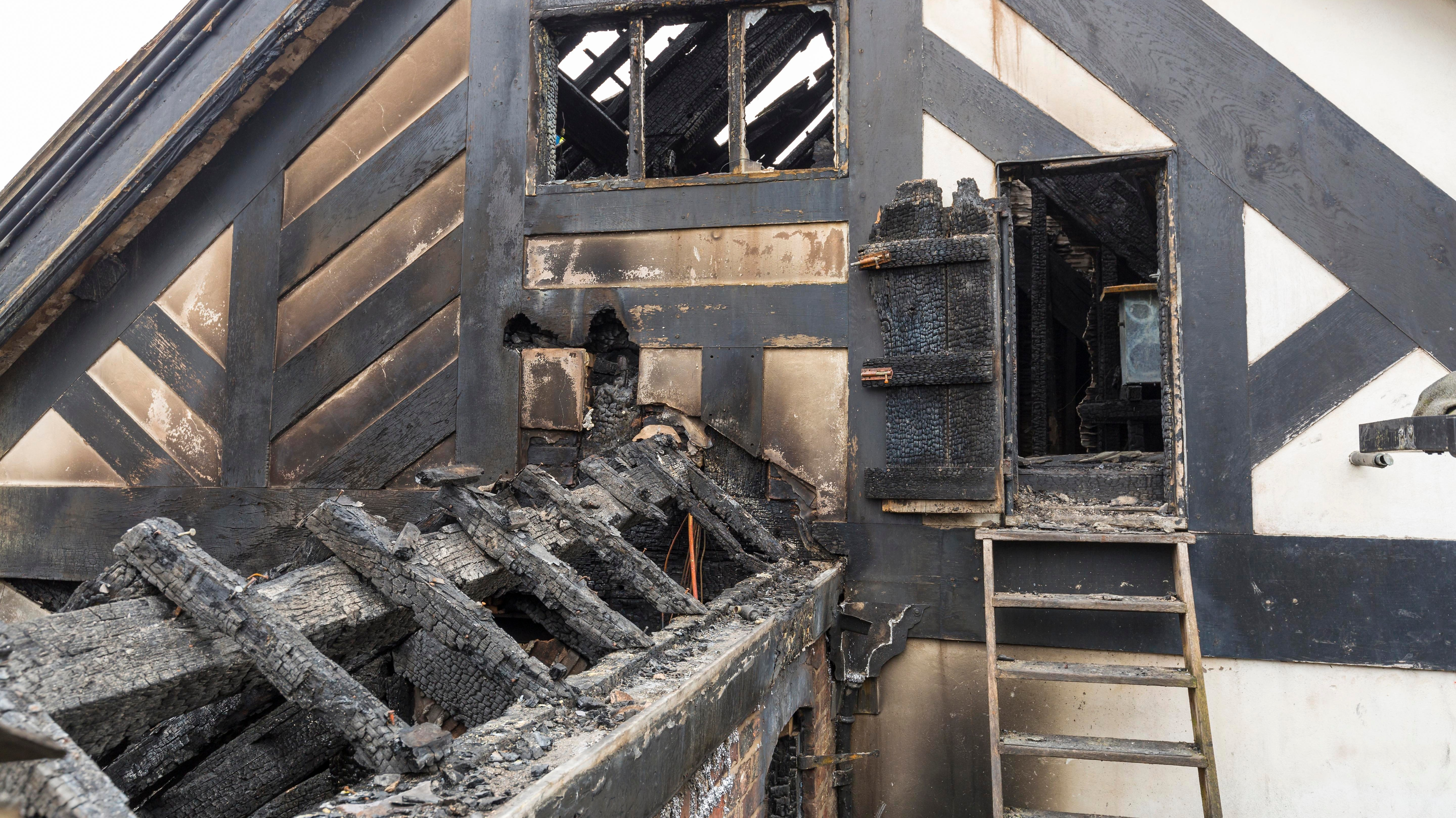 Pictures show damage caused by fire at Wythenshawe Hall ...