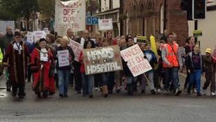 Flint Community Hospital protest