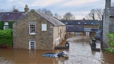 Flooded Corbridge in December