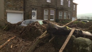 Flooding damaged homes in Corbridge