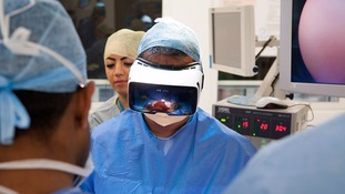 Smartphone or Virtual Reality headset: World first allows viewers to watch live stream of operation on patient
