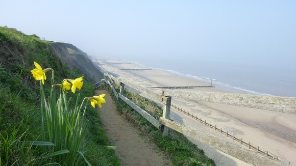 Mundlesey cliffs in Norfolk