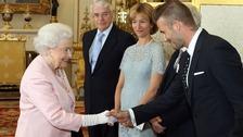 Queen Elizabeth II meets David Beckham