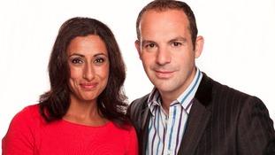 Saira Khan and Martin Lewis
