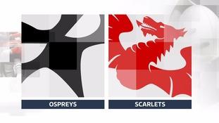 Ospreys versus Scarlets