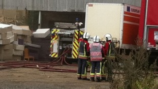 Derbyshire Fire and Rescue Service at the scene