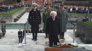 Irish president calls for 'new Ireland' at Easter Rising centenary event