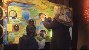 The interactive displays encourage people to look and laugh