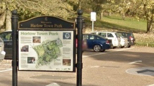 A young girl has died after a bouncy castle was blown away at Harlow Town Park in Essex.