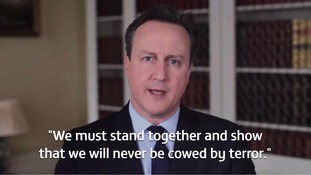 PM states 'we will never be cowed by terror' as he addresses Brussels attacks in Easter message