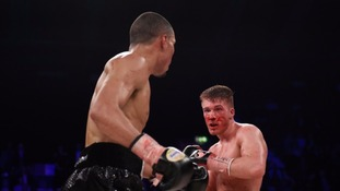 Eubank Jr landed punches from the off and found it easy to evade Blackwell