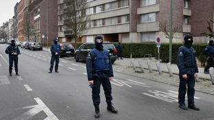 Police in the Brussels suburb of Molenbeek