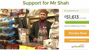 Asad Shah's GoFundMe page