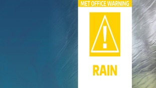 Met office warning for heavy rain