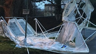 Mells marquee blown away but show must go on