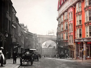 Dean Street, heading down towards the Quayside