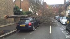 Storm Katie wreaks havoc across London.