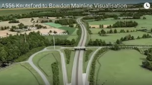 Significant traffic management will be in place on the A556 and Bowdon roundabout