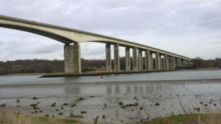 The Orwell Bridge near Ipswich.