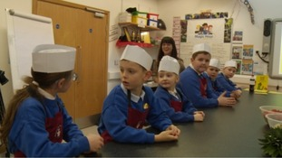 Children find out how easy is it to make tasty healthy food