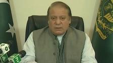 Nawaz Sharif, Prime Minister of Pakistan, addressed the nation